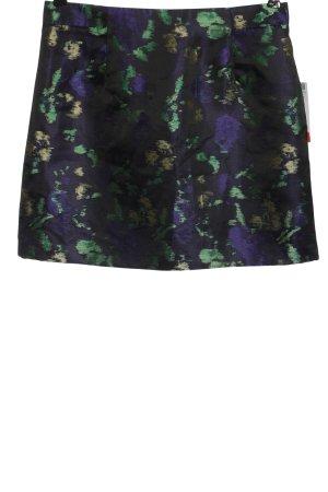 Zara Basic Minirock abstraktes Muster Elegant