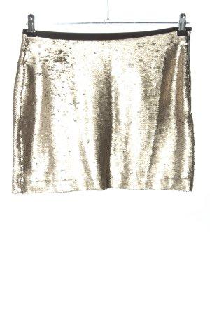 Zara Basic Minirock goldfarben Elegant