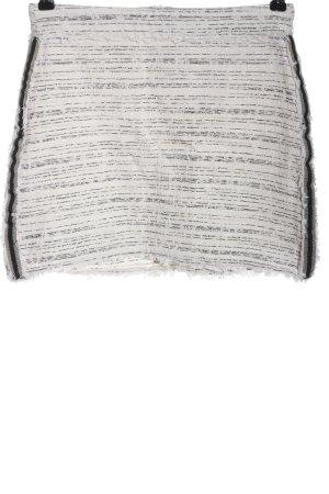 Zara Basic Minirock weiß-schwarz meliert Casual-Look