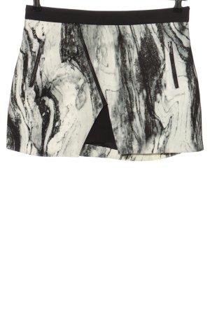 Zara Basic Minirock schwarz-wollweiß abstraktes Muster Casual-Look