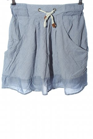 Zara Basic Minirock blau-weiß Streifenmuster Casual-Look