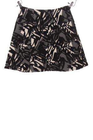 Zara Basic Minirock abstraktes Muster Casual-Look