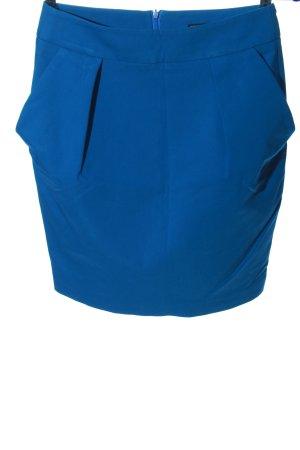 Zara Basic Minirock blau Business-Look