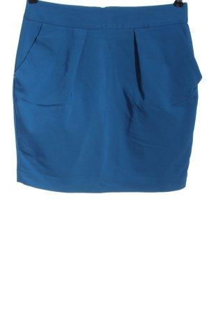 Zara Basic Minirock blau meliert Casual-Look