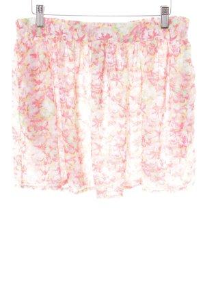 Zara Basic Minirock Blumenmuster Casual-Look