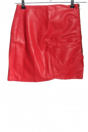 Zara Basic Minirock rot Casual-Look