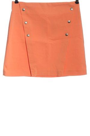 Zara Basic Minirock hellorange Casual-Look