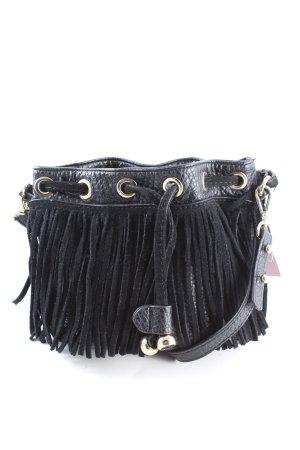 Zara Basic Minitasche schwarz Casual-Look