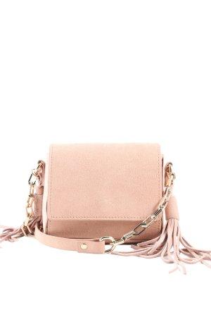 Zara Basic Minitasche creme Casual-Look