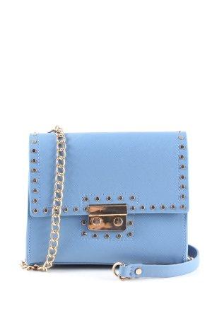 Zara Basic Minibolso azul elegante