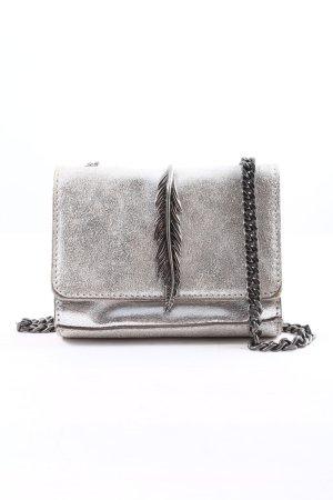 Zara Basic Minitasche hellgrau-silberfarben Casual-Look