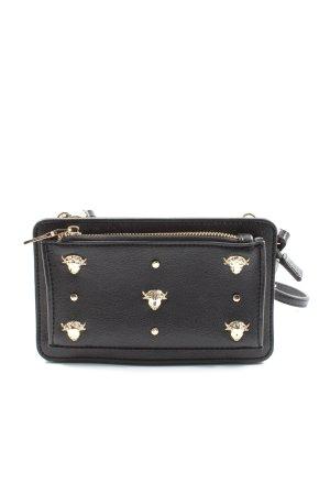 Zara Basic Minitasche schwarz Elegant