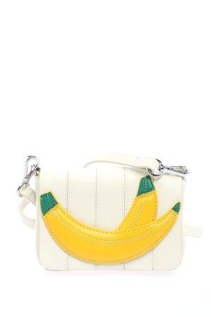 Zara Basic Minitasche weiß-blassgelb Casual-Look