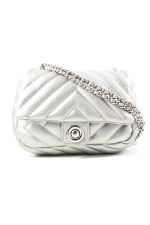 Zara Basic Minitasche hellgrau Steppmuster Casual-Look
