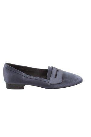 Zara Basic Mokassins blau Casual-Look