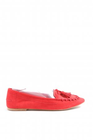 Zara Basic Mocassins rood casual uitstraling