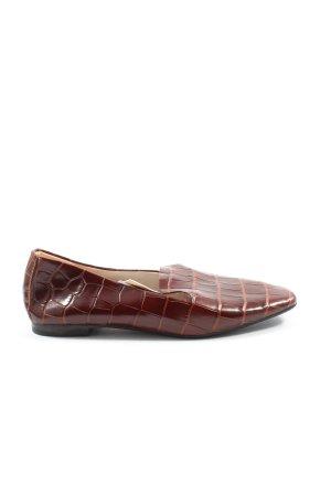 Zara Basic Mocassins bruin volledige print casual uitstraling