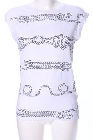Zara Basic Muscleshirt wit volledige print casual uitstraling
