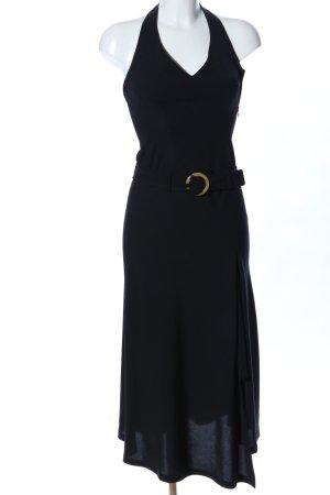 Zara Basic Neckholderkleid schwarz Elegant