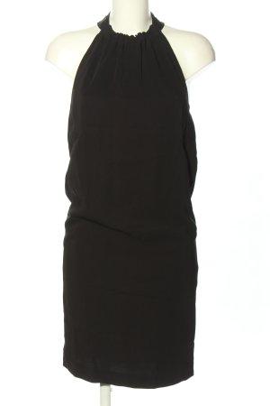 Zara Basic Vestido de cuello Halter negro look casual
