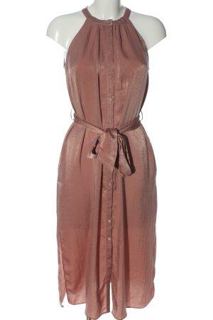 Zara Basic Neckholderkleid braun Casual-Look