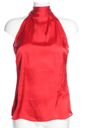 Zara Basic Halter Top red casual look