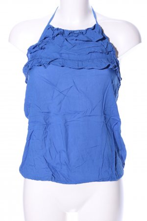 Zara Basic Halter Top blue casual look