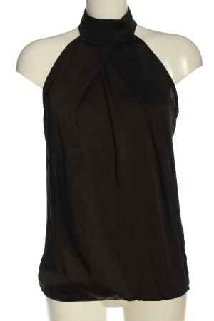 Zara Basic Top z dekoltem typu halter czarny Elegancki