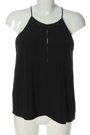 Zara Basic Neckholdertop schwarz Casual-Look
