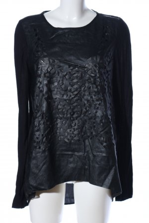 Zara Basic Mesh Shirt black casual look