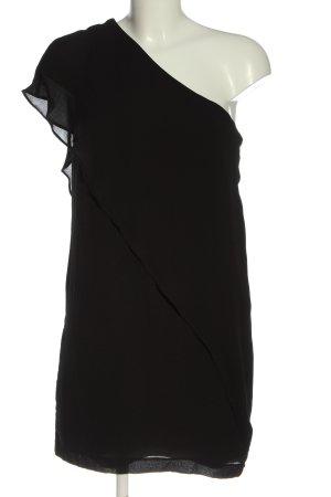 Zara Basic Vestido de un hombro negro elegante