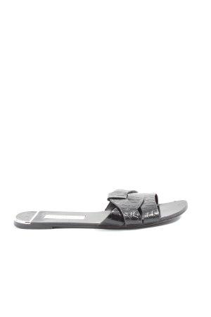 Zara Basic Outdoor-Sandalen schwarz Animalmuster Casual-Look