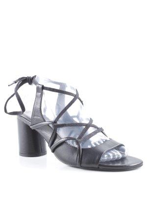 Zara Basic Outdoor sandalen zwart casual uitstraling