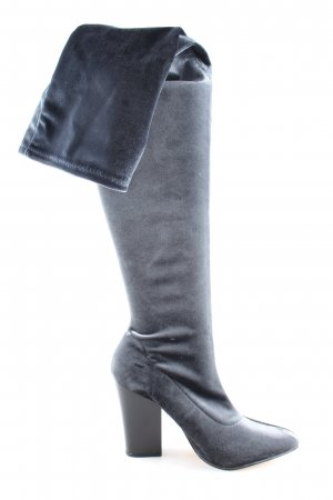 Zara Basic Overknees hellgrau Casual-Look