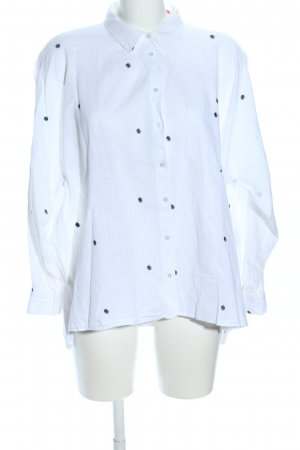Zara Basic Oversized Bluse weiß Allover-Druck Casual-Look
