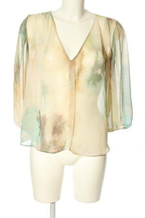 Zara Basic Bluzka oversize Abstrakcyjny wzór W stylu casual