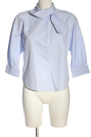 Zara Basic Blusa ancha azul elegante