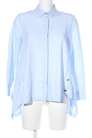 Zara Basic Oversized blouse blauw casual uitstraling