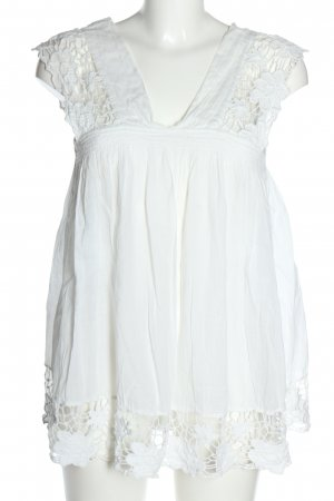 Zara Basic Oversized Bluse weiß Casual-Look