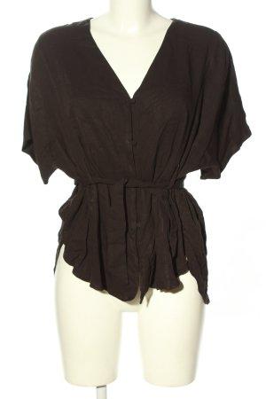 Zara Basic Oversized Bluse braun Casual-Look