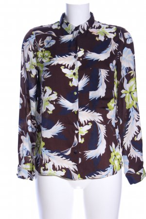 Zara Basic Oversized Bluse Allover-Druck Business-Look