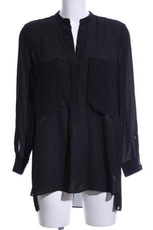 Zara Basic Oversized Bluse schwarz Elegant