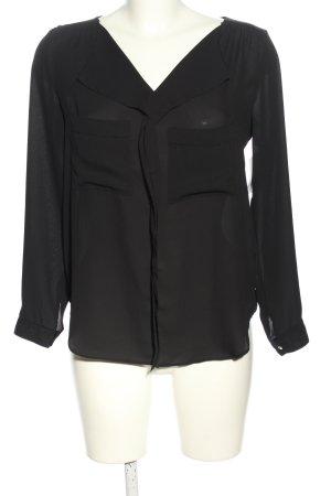 Zara Basic Oversized Bluse schwarz Casual-Look