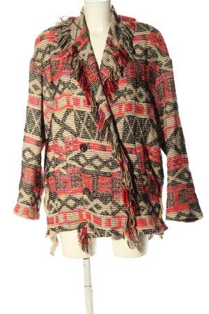 Zara Basic Oversized Jacke Mustermix Casual-Look