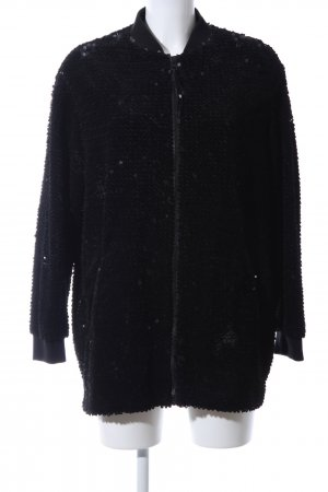 Zara Basic Oversized Jacke schwarz Casual-Look