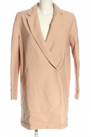 Zara Basic Oversized jas nude casual uitstraling