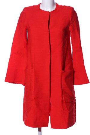 Zara Basic Oversized Mantel rot Casual-Look