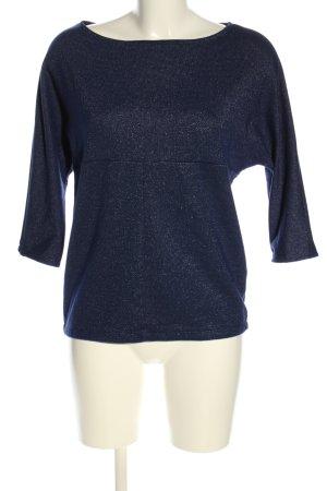 Zara Basic Oversized Pullover blau meliert Casual-Look
