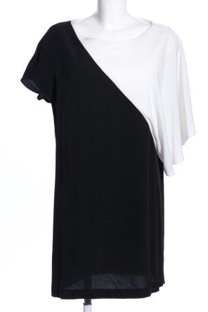 Zara Basic Oversized shirt zwart-wit casual uitstraling