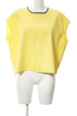 Zara Basic Oversized Shirt gelb Casual-Look
